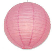 Wholesale lastest inch cm Pink Paper Round Lanterns Wedding Party Decorations