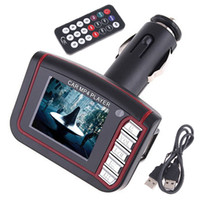 Wholesale 4 in MP3 MP4 player SD Card Reader FM Transmitter SD MMC Car Kits With Remote Control K345