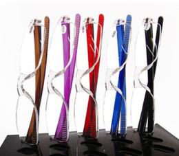 (20pcs lot) Unisex transparent reading glasses plastic readers with many colors strength power from +1.00 to +4.00
