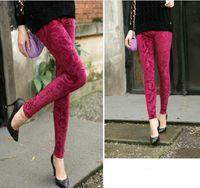 Wholesale 2013 Winter Hot Peluche velvet Lady Women Warm Slim Pants Leggings Tights NEW