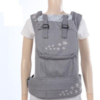 Wholesale 100 cotton orginal silver five star GREY baby slings baby carriers fashion design baby backpack and kid slings