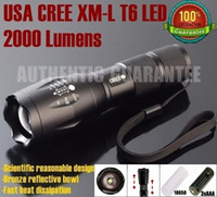 Wholesale UltraFire E17 CREE XM L T6 Lumens High Power Torch Zoomable LED Flashlight Torch light For xAAA or x18650