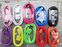 Wholesale Colorful USB Cable Data sync Charging cable for Samsung Galaxy i9500 i9300
