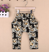 Wholesale Children Casual Pants Baby Clothes Kids Trouser Harem Pants Long Trousers Child Clothing Boy And Girl Tiger Printed Pants Casual Trousers