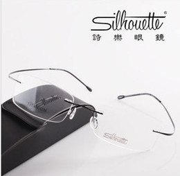 Wholesale Retail piece Brand Silhouette rimless optical glasses frames ultra light titanium rimless eyeglasses frame myopia frame go with the case