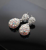 Wholesale 10pair Simple full of diamond earrings exquisite ladies fashion wild water drop x025