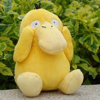 Wholesale Poke Pikachu psyduck yellow toy soft plush doll stuffed animal cm
