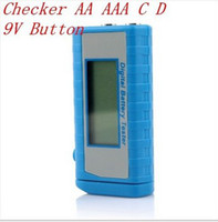 Wholesale Digital Battery Tester Checker AA AAA C D V Button New top sale