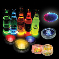 Wholesale Color Changeable LED Light Coaster Drink Bottle Cup colorful flash LED Coaster Light up BAR COASTER BLINKING