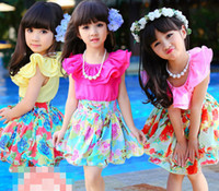 Princess 2014 Summer Girl Kids Cloth Flouncing Chiffon Lace ...