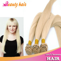 Wholesale Hot Remy Brazilian Virgin High Quality A Straight Hair Weave Bundles Silky Soft Straight Hair Bulk Blonde Real Human Hair Weft