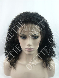 Oxette free shipping 18 inch Afro kinky curly virgin hair virgin Brazillian full lace wig & front lace wig Brazilian Afro kinky curly