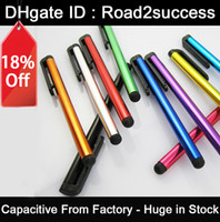 Wholesale Capacitive Screen Stylus Pen Pens Touch Pen Colors For IPAD IPHONE Tablet PC DHL Fedex MOQ CH8562126 Hotsale