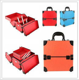 Wholesale 1X Rectangle Professional Makeup Artist Cosmetic Storage Carrying Travel Train Case K1749