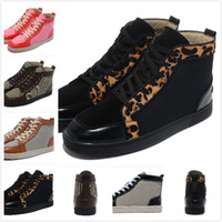 Wholesale New designer men and women high top sneakers fashion men s flat causal shoes genuine leather with canvas sports shoes36