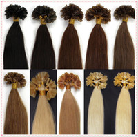 """Wholesale Cheap Keratin - Wholesale cheap 16""""-26"""" keratin nail u tip hair extensions indian remy human hair 1g pcs in stock"""