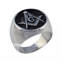 Wholesale men jewelry Masonic logo rings for men stainless steel ring the casted