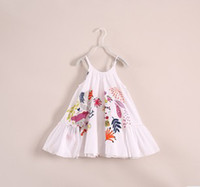 Customised 2014 Summer Kids Dress Children Girl White Sleeve...