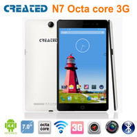 Wholesale CREATED N7 inch cell phone MTK GHz octa core G RAM G ROM GSM WCDMA WIFI GPS bluetooth android