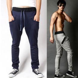 Wholesale On Sale Men s Harem Pant Sport Trousers Sweatpants Oblique Zipper Design Long Autumn Trousers Plus Size Boy Leisure Pants AW0709