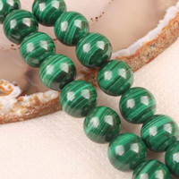 Wholesale 8mm Green Malachite Gems Round Loose Bead QF370