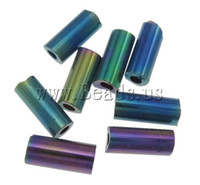 Cheap Free shipping!!!Plated Glass Seed Beads,2013 Womens, Tube, plated, 2x4.5mm, Hole:Approx 1mm, Approx 15000PCs Bag, Sold By Bag