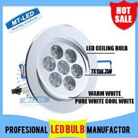 Wholesale X10 by FEDEX Led Ceiling light W LM LED Recessed Ceiling Down Light V led bulb lamp downlights lighting spotlight