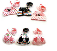 Wholesale Dog Harness Leash Pet Dog Collar Lead Drawberry Clothes Pet S M L Pink Black MOQ