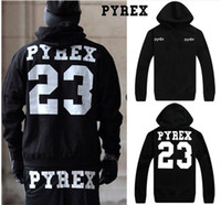 Spring / Autumn Punk / Rock / Hip-hop Fashion Cotton women Hoodies PYREX VISION 23 Hip-hop clothing Printing letter Couple hoodie Sweatshirts men black Hoodie loose Hooded tops Pullover