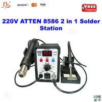 Cheap Freeshipping! 220V ATTEN AT8586 2 in1 Hot Air SMD Rework Soldering Station Desoldering Station