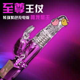 Wholesale 36 functions rabbit vibrator with clitoris stimulator and g spot Rolling sex toy Jelly Jack vibrator for women