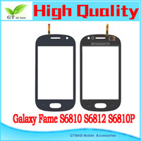 Wholesale 10pcs hotsale high quality touch screen digitizer for Samsung Galaxy Fame S6810 S6812 S6810P touch screen digitizer black dark blue
