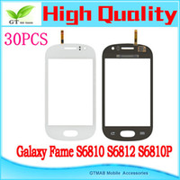 Wholesale 30pcs hotsale high quality touch screen digitizer for Samsung Galaxy Fame S6810 S6812 S6810P touch screen digitizer black blue white