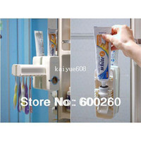 Wholesale New Automatic Toothpaste Dispenser Toothbrush Holder sets toothbrush Family sets White rose red