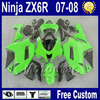 Wholesale ABS Fairing kit for Kawasaki ZX R Ninja ZX R zx636 green black plastic bodywork fairings set ZX6R Yr4 Gifts