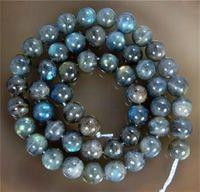 Wholesale 8mm Natural Labradorite Gemstone Round Loose Bead inch