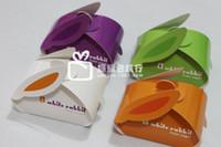 Favor Boxes Purple Paper 2014 Hot Wedding Candy Bags Paper Rabbit Shap cute Romantic Design Creative DIY Wedding Favor Boxes