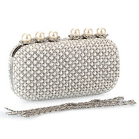 Wholesale Diamond Pearl Clutch Ladies Evening Bag Banquet Bag Fashion Women Bag