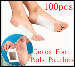 Wholesale 100pcs new Bamboo Wood Vinegar Improve Sleep slimming Feet stickers Healthy Detox Foot Pads Patches With Adhesive Sheet