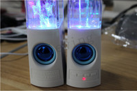 2.1 Universal HiFi high quality Dancing Water Speaker Music for Iphone 4 5 USB LED Light 2 in 1 USB mini Colorful Water-drop Show for Laptop phone