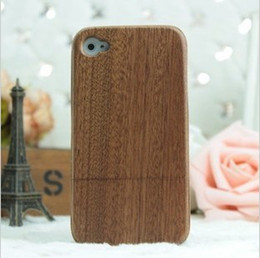 Wholesale Apple iphone4 S phone shell protective shell phone sets wood charcoal love crazy four wooden shell protective shell