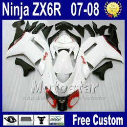 Fairings kit for Kawasaki ZX-6R 2007 2008 Ninja plastic ZX6R 07 08 636 ZX 6R zx636 white black motobike parts fairing kits za24