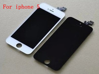 For Apple iPhone LCD Screen Panels  Front Assembly LCD Display Touch Screen Digitizer Replacement Part for iphone 5 5G Black and White Color free shipping sale
