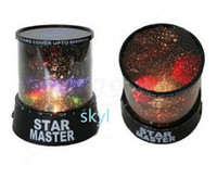 Wholesale Colorful LED Sky Star Master Lights Constellation Projector Lamp Sound Asleep Night Bulb Christmas Decoration new arrival