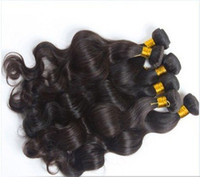 Wholesale 8 inch Indian Virgin Hair Weave Human Hair Weft Off Natural Color Hair Extensions Natural Body Wave Wavy