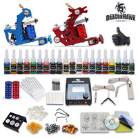 Wholesale Cheap tattoo kits Machines Inks Power Supply disposable Needles Grips Tips arrive within days DHGD