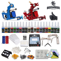 Wholesale Cheap tattoo kits Machines Inks Power Supply disposable Needles Grips Tips DH