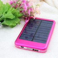 Wholesale Portable Solar Panel mAh Portable Battery Backup Battery power bank Solar Battery Charger For Cell Phone Tablet PC MP3
