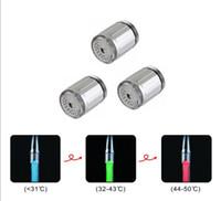 Wholesale 50pcs New products LED faucet Kitchen Bathroom Faucet Head LED change color temperature faucet head