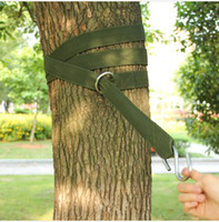 Wholesale Dedicated outdoor hammock hammock swing nylon straps with steel rings hanging tying buckle pouch Set